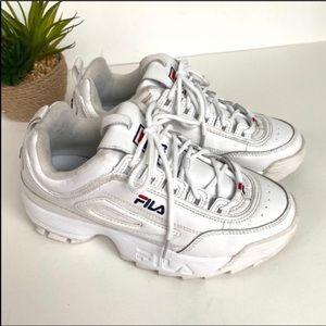 Fila disruptor white leather platform sneakers 8